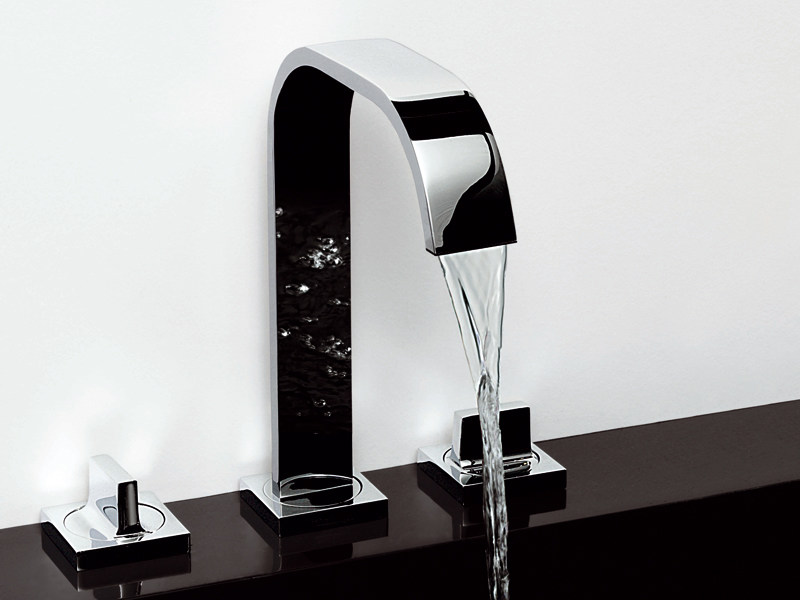 3 hole chrome-plated washbasin tap AGUABLU | 3 hole washbasin tap - ZUCCHETTI