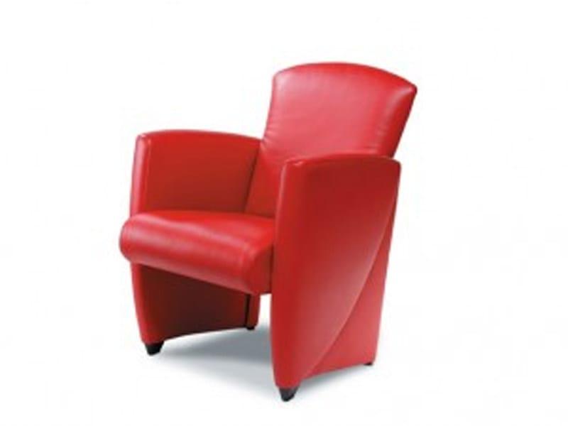 Upholstered armchair with armrests VINCI | Armchair - Jori