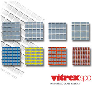 Glass-fibre Mesh and reinforcement for plaster and skimming Armature per rivestimenti edilizi by VITREX
