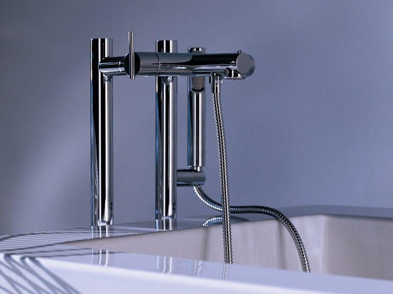 Floor standing bathtub mixer with hand shower SPIN | Bathtub mixer - ZUCCHETTI
