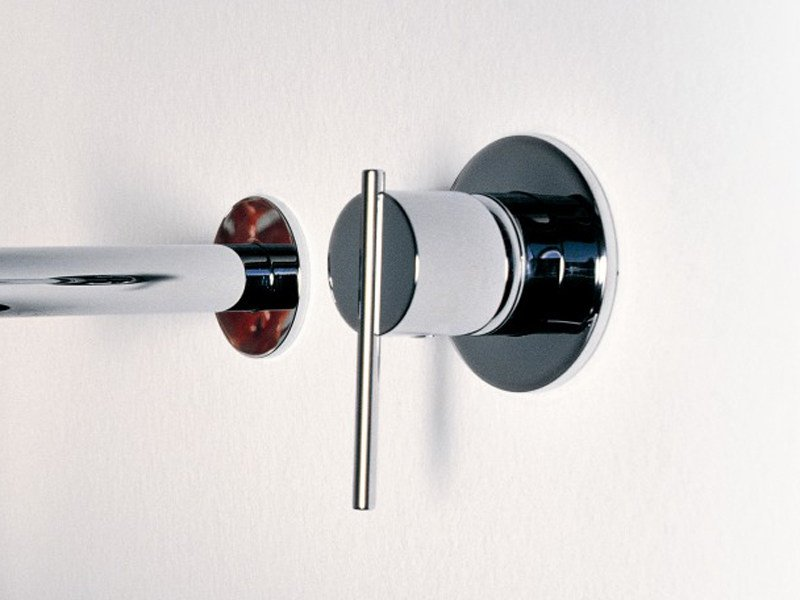 Chrome-plated 1 hole shower mixer SPIN | Chrome-plated shower mixer by ZUCCHETTI