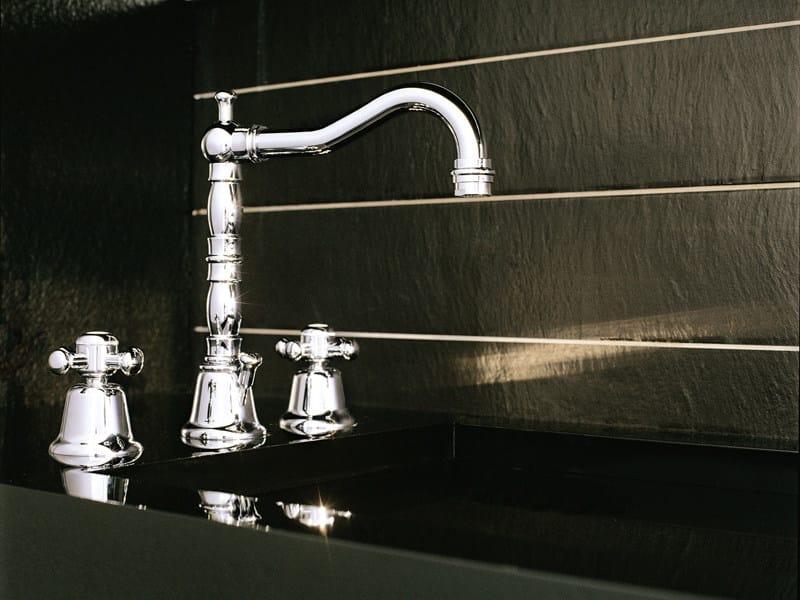 3 hole chrome-plated washbasin tap DELFI | Washbasin tap - ZUCCHETTI