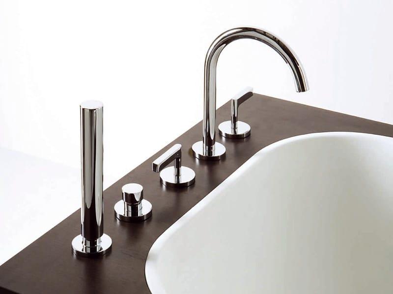 5 hole bathtub set with hand shower SIMPLY BEAUTIFUL | 5 hole bathtub tap - ZUCCHETTI