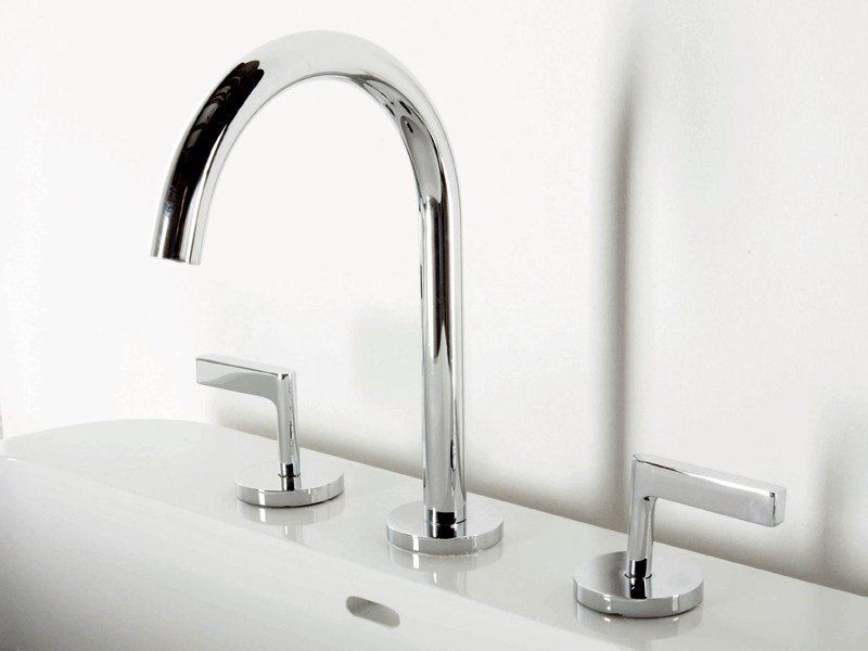 3 hole chrome-plated washbasin tap SIMPLY BEAUTIFUL | 3 hole washbasin tap by ZUCCHETTI