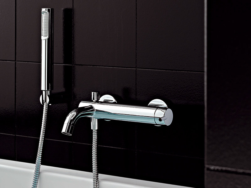 Wall-mounted bathtub mixer with hand shower SIMPLY BEAUTIFUL | Bathtub mixer - ZUCCHETTI