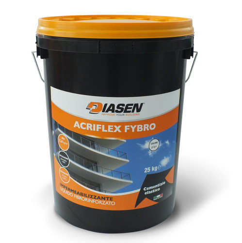 Cement-based waterproofing product ACRIFLEX FYBRO - DIASEN