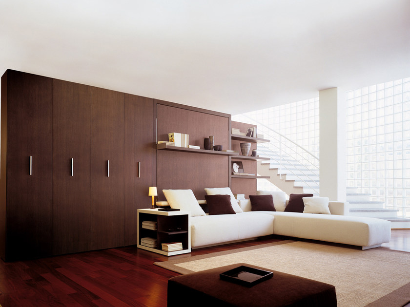 Storage wall with fold-away bed ATOLL 202 by CLEI