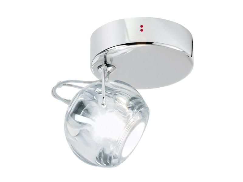 Adjustable crystal spotlight BELUGA COLOUR | Adjustable spotlight - Fabbian