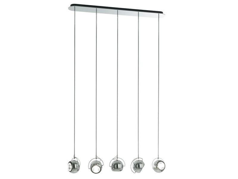 Metal pendant lamp BELUGA STEEL | Pendant lamp - Fabbian
