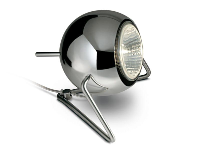 Adjustable metal table lamp BELUGA STEEL | Table lamp - Fabbian