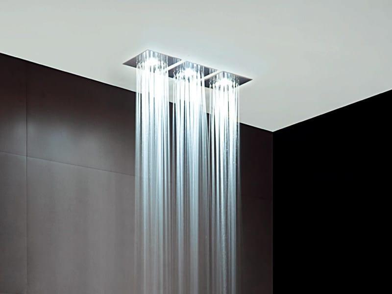 soffione a soffitto in acciaio inox con illuminazione z94155 soffione zucchetti. Black Bedroom Furniture Sets. Home Design Ideas