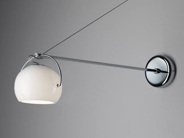 Adjustable chrome plated wall lamp BELUGA WHITE   Wall lamp - Fabbian