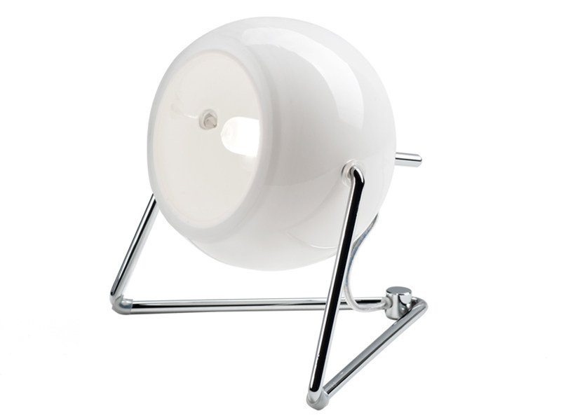 Adjustable chrome plated table lamp BELUGA WHITE | Table lamp - Fabbian