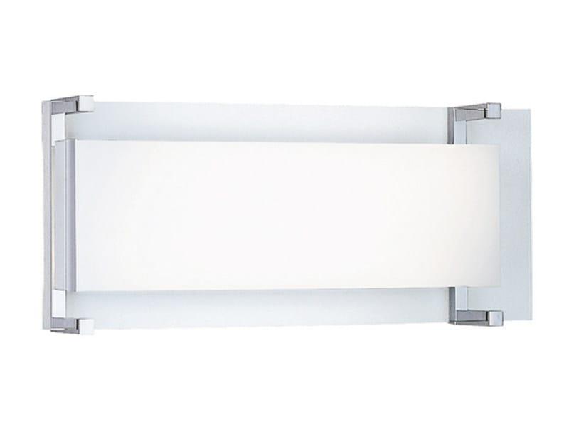 Fluorescent glass wall light BINARIO   Wall light - Fabbian