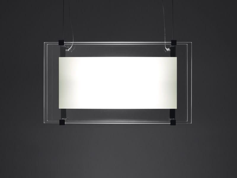 Fluorescent glass pendant lamp BINARIO | Pendant lamp - Fabbian