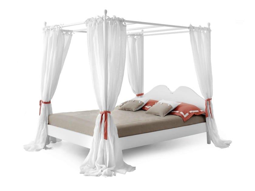 Letto matrimoniale in legno in stile classico a - Baldacchino per letto matrimoniale ...
