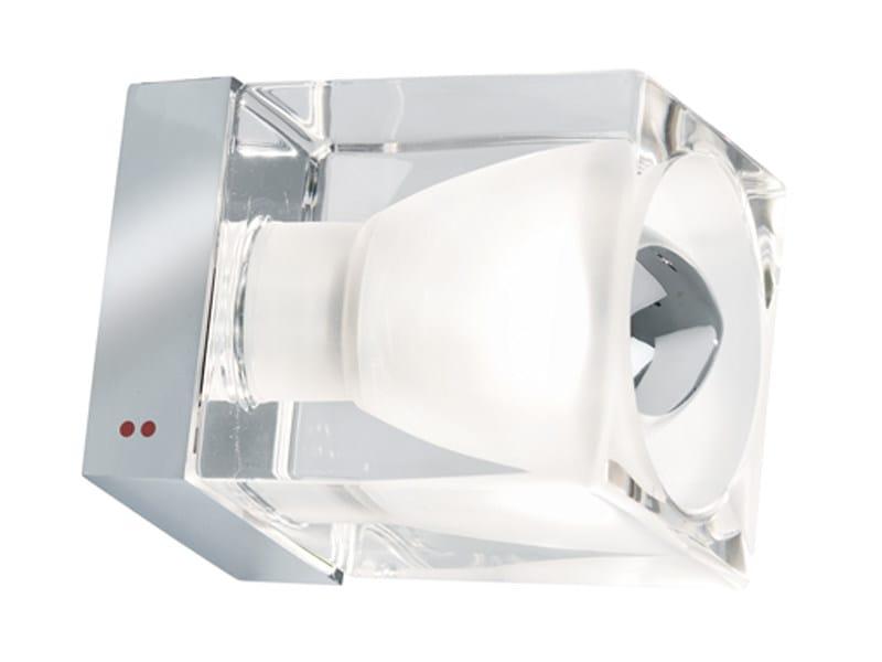Wall-mounted crystal spotlight CUBETTO   Wall-mounted spotlight - Fabbian