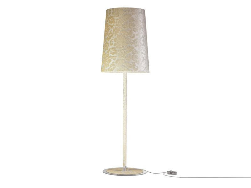 Fluorescent fabric floor lamp DAMASCO | Floor lamp - AXO LIGHT