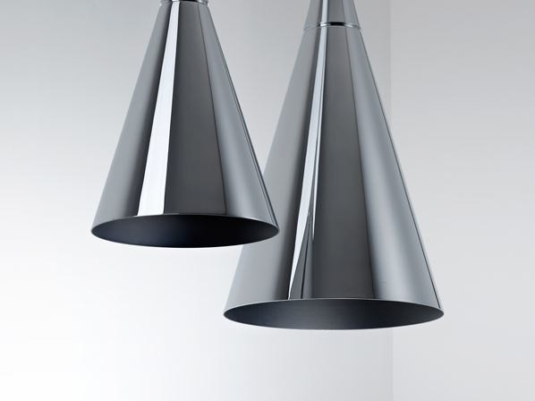 Chrome plated pendant lamp KONE | Pendant lamp - Fabbian