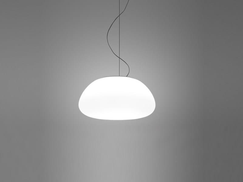 Glass pendant lamp LUMI POGA | Pendant lamp - Fabbian
