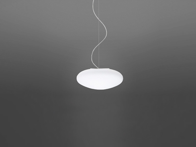 Glass pendant lamp LUMI WHITE | Pendant lamp - Fabbian