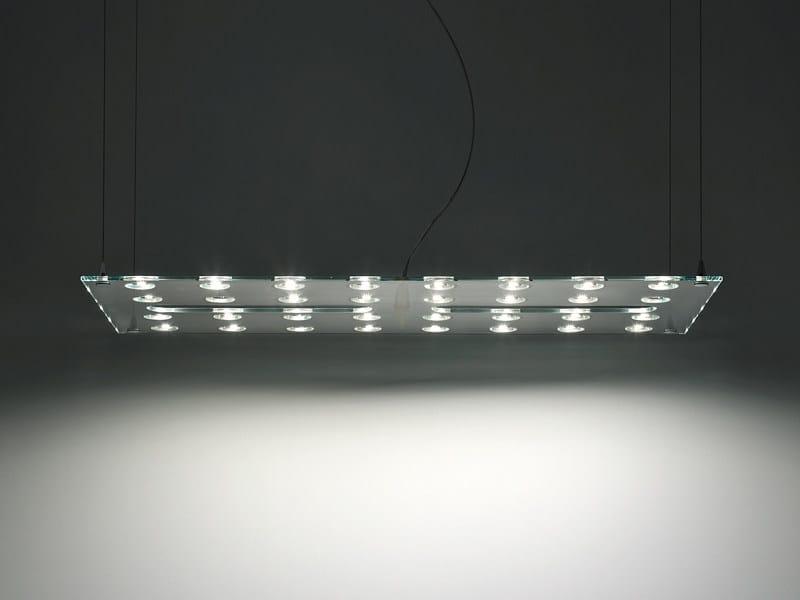 Glass pendant lamp PULSE - Fabbian