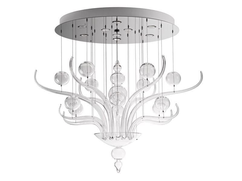 Glass pendant lamp SPIRITO DI VENEZIA - Fabbian