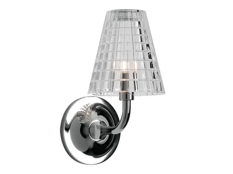 Crystal wall lamp FLOW | Wall lamp by Fabbian