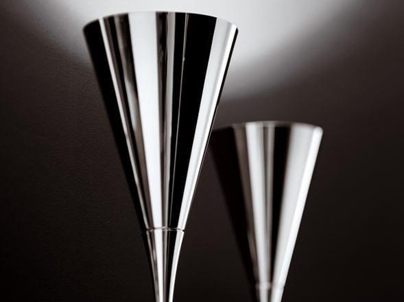 Chrome plated floor lamp KONE | Floor lamp - Fabbian