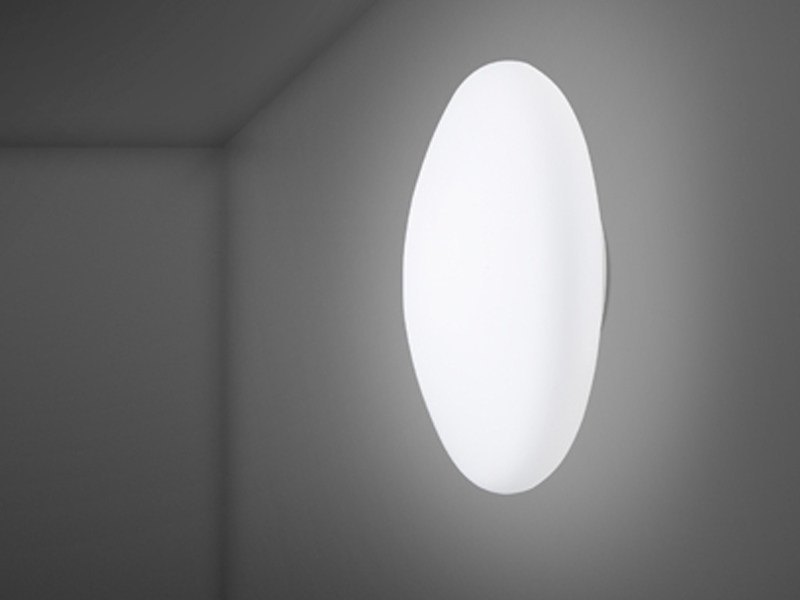 Glass wall lamp / ceiling lamp LUMI WHITE | Wall lamp - Fabbian