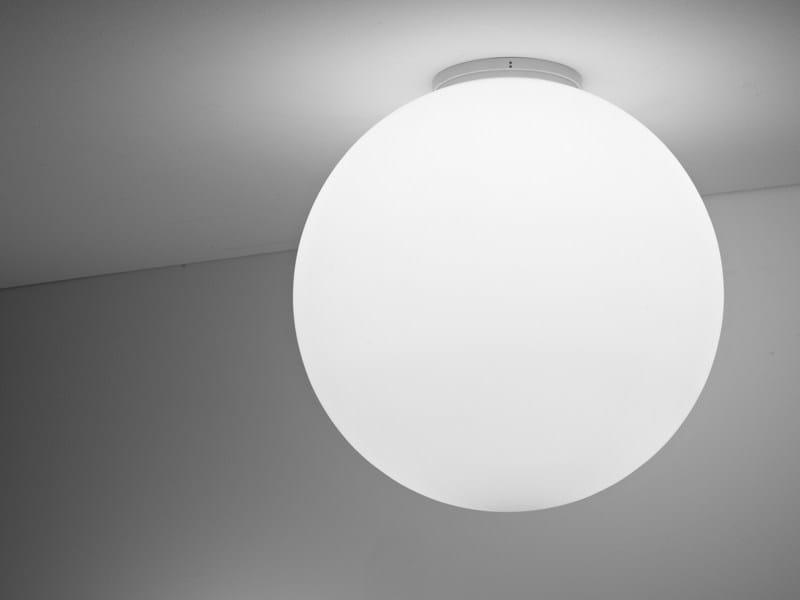 Halogen fluorescent glass ceiling lamp LUMI SFERA | Ceiling lamp - Fabbian