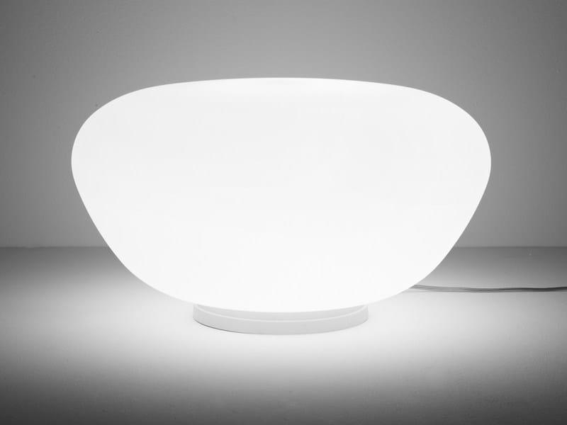 Glass table lamp LUMI POGA | Table lamp by Fabbian