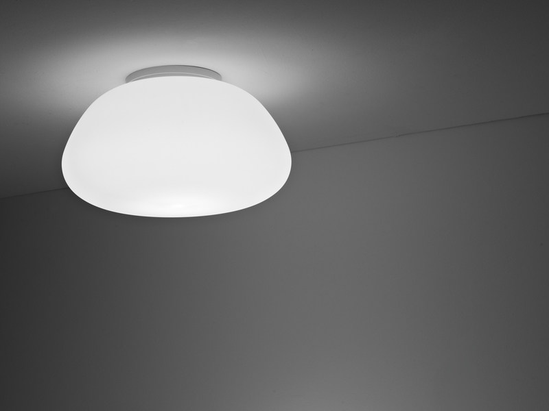 Glass ceiling lamp LUMI POGA | Ceiling lamp - Fabbian