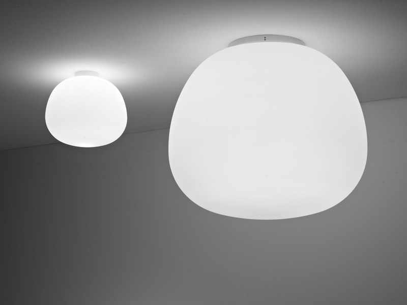 Glass ceiling lamp LUMI MOCHI | Ceiling lamp - Fabbian