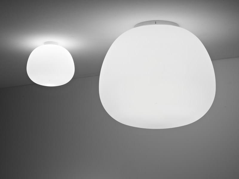 Glass ceiling lamp LUMI MOCHI | Ceiling lamp by Fabbian