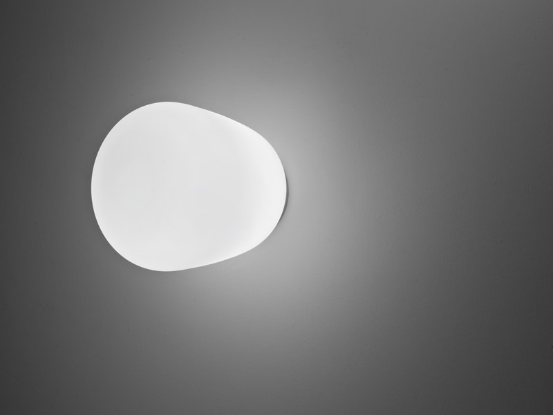 Glass wall lamp LUMI BAKA | Wall lamp - Fabbian