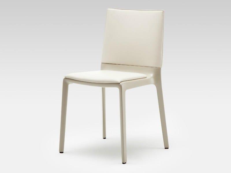 stapelbarer stuhl aus leder rolf benz 600 by rolf benz. Black Bedroom Furniture Sets. Home Design Ideas