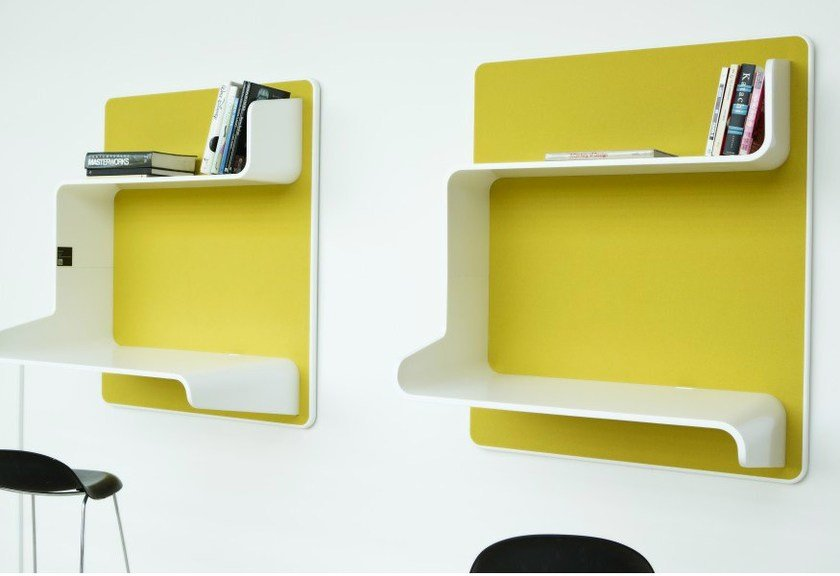 Wooden wall shelf WALL IN ONE by Abstracta