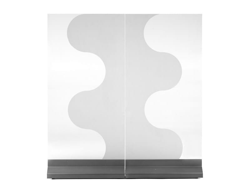 Glass room divider ALLÉ - Abstracta