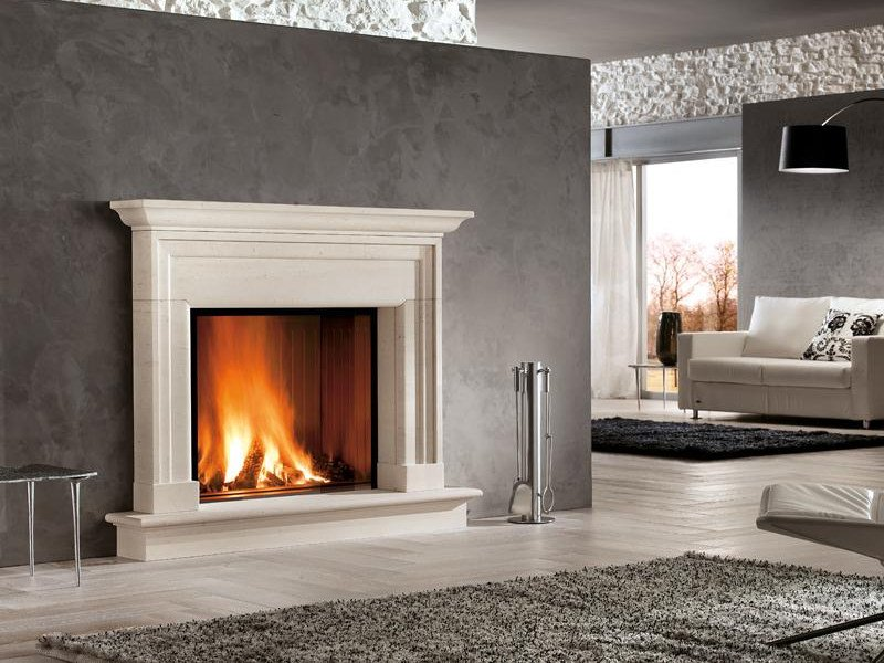 Stone Fireplace Mantel ALGHERO - Piazzetta