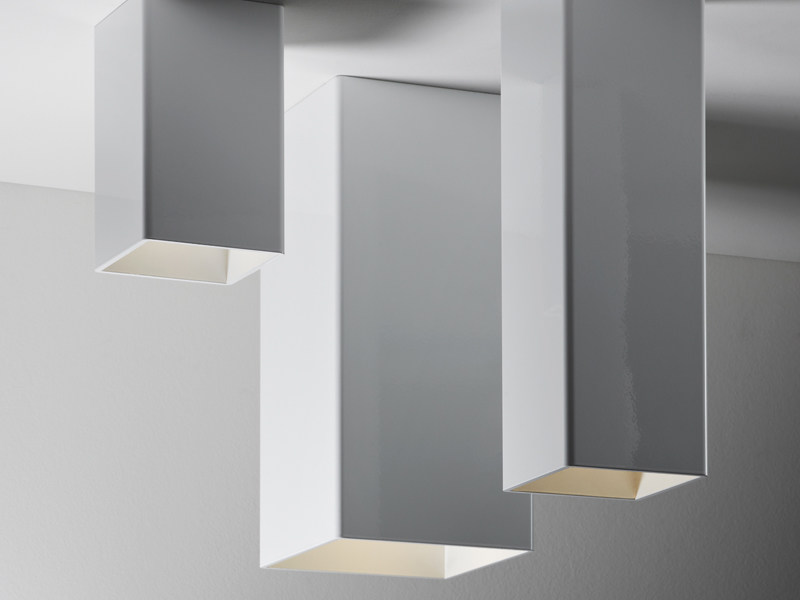 Aluminium ceiling lamp SLOT | Ceiling lamp - Fabbian