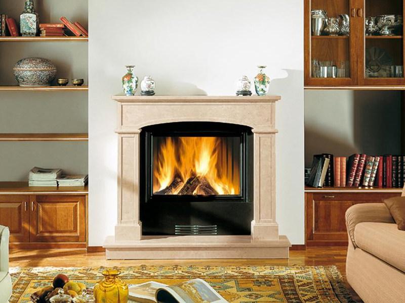 Marble Fireplace Mantel PAVIA - Piazzetta