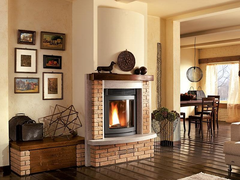 Travertine Fireplace Mantel DOBBIACO - Piazzetta