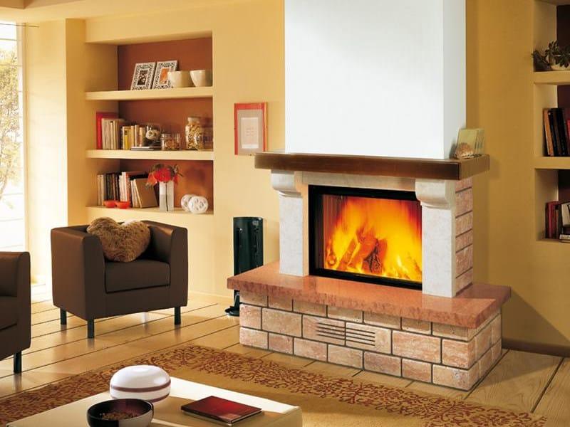 Travertine Fireplace Mantel LIVIGNO - Piazzetta