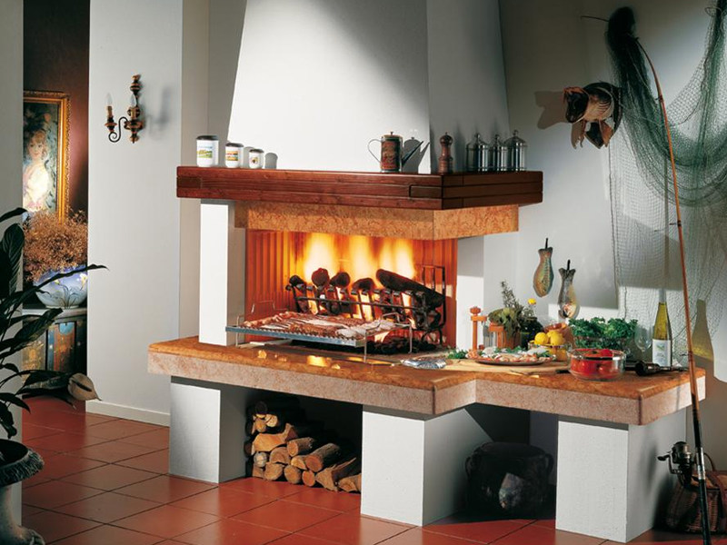 Marble Fireplace Mantel OLBIA - Piazzetta