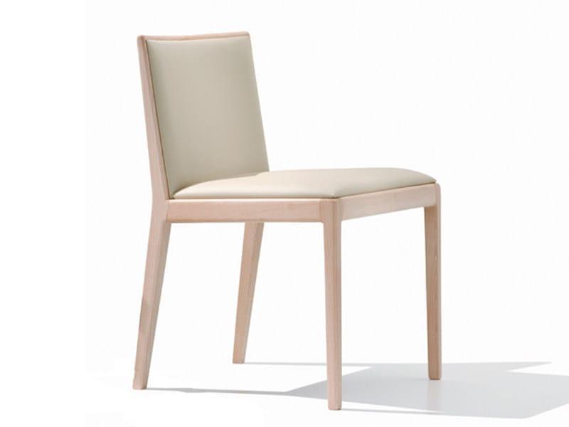 Upholstered wooden chair CARLOTTA | Chair - Andreu World