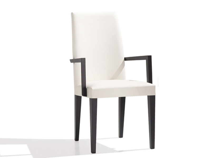 Upholstered chair with armrests ANNA | Chair with armrests by Andreu World