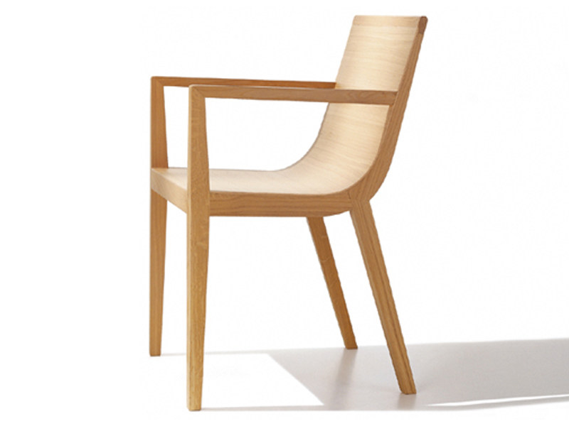 Wooden chair with armrests RDL | Chair with armrests - Andreu World