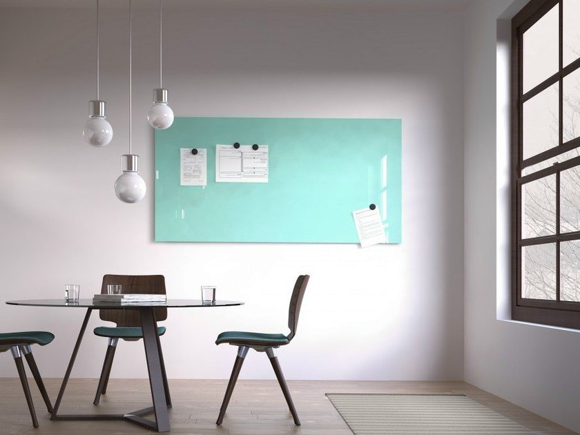 Magnetic wall-mounted office whiteboard MAGVISION by Abstracta