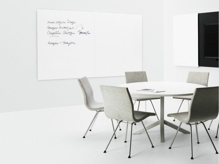 Wall-mounted office whiteboard VISION - Abstracta